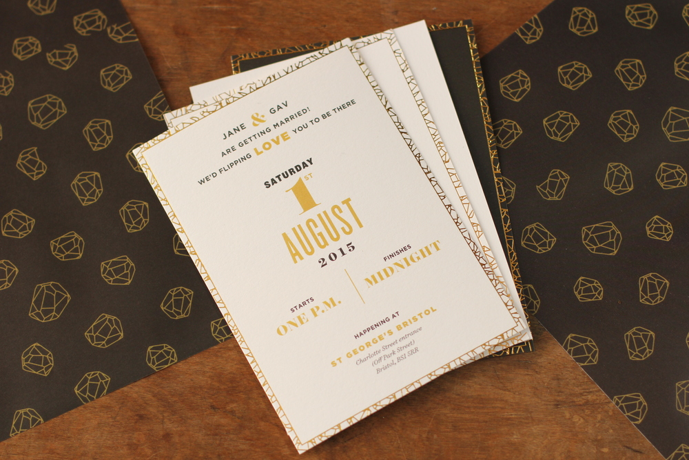 Our Invite package consisted of a few different types of A6 postcards typeset in a mixture of Gotham, Surveyor and Knockout.