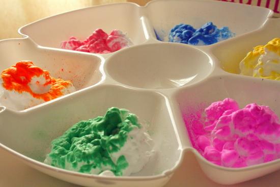 gaby shaving cream paint 2