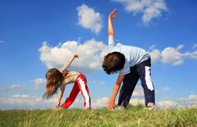 kids stretching