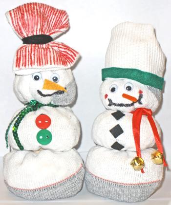 Tube Sock Snowmen