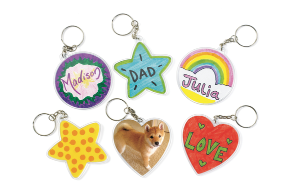 Create Your Own Keychains- Set of 12