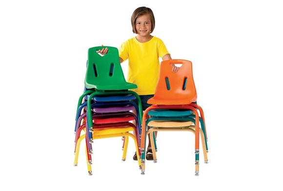 "Single 14"" Berries® Stacking Chairs with Matching Legs Item # XA8124JC1"