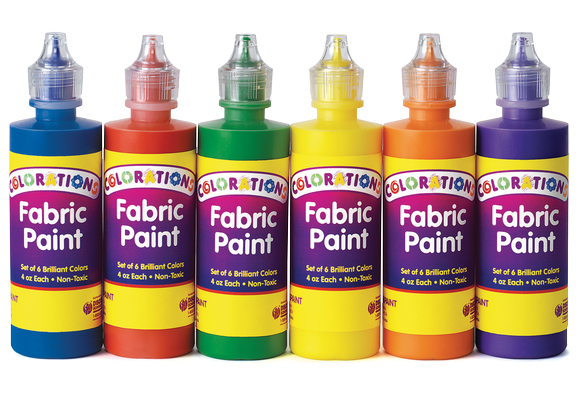 Colorations® Fabric Paint, 4oz. Bottles - Set of 6  Item # FABPAINT