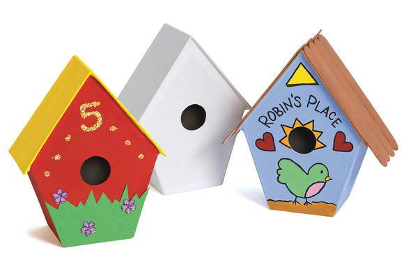 Papier-Mache Birdhouses - Set of 12    Item # CHIRP
