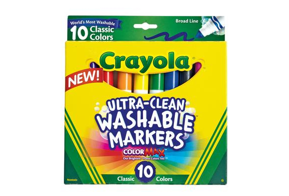 Crayola® Ultra-Clean Markers - Set of 10    Item # UWCC     YourPrice:  $4.99