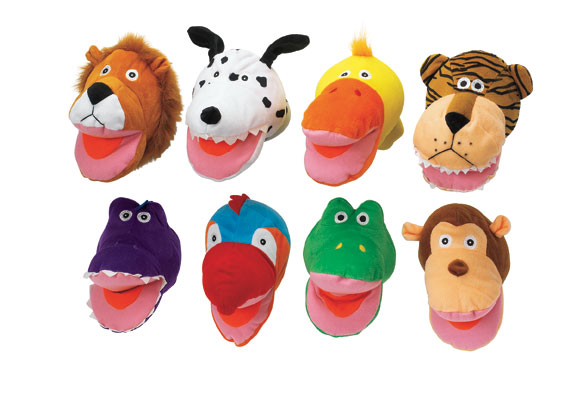 Big Mouth Animal Puppets - Set of 8 Item # FUNPUP
