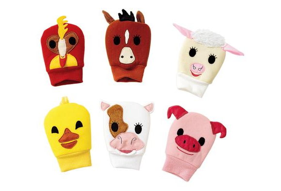 Excellerations® Happy Hands Farm Puppets - Set of 6   Item # FIRSTPUP