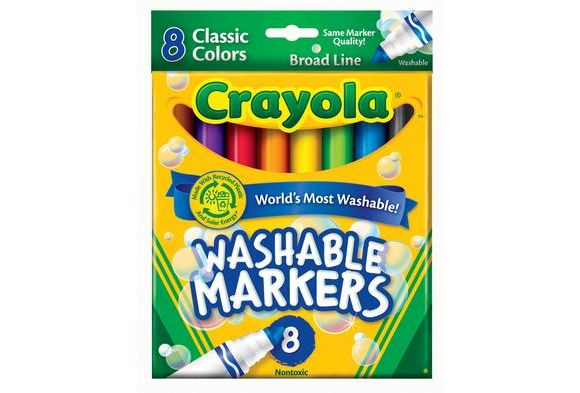 Crayola® Conical Tip Markers - Washable, Set of 8 (Item #WCCR) YourPrice: $3.39 (before 15% discount) Compareat: $4.95