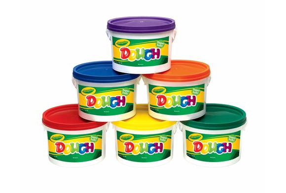 Crayola® Assorted Colored Dough, 3 lbs. each - Set of all 6 Tubs (Item #CDALL)    YourPrice:  $50.14   (before 15% discount)  Compareat: $65.94