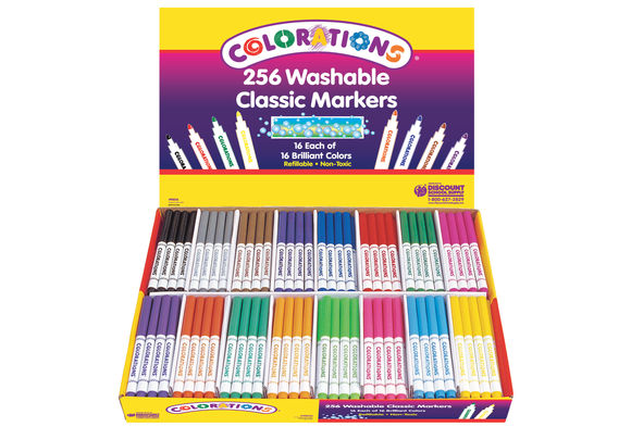 98256  –Colorations Washable Classic Markers Classroom Pack