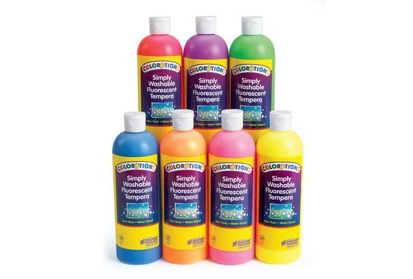 FSWTSET  – Colorations Simply Washable Fluorescent Tempera