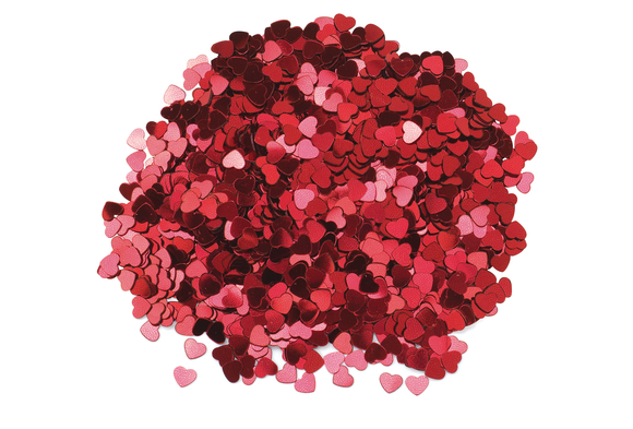 Red Hearts Confetti - 1 oz. Item # RHEA