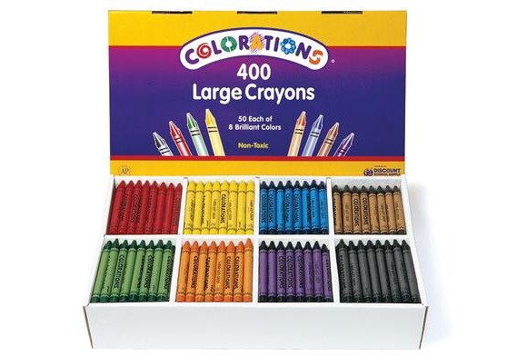 Colorations® Large Crayons - Set of 400