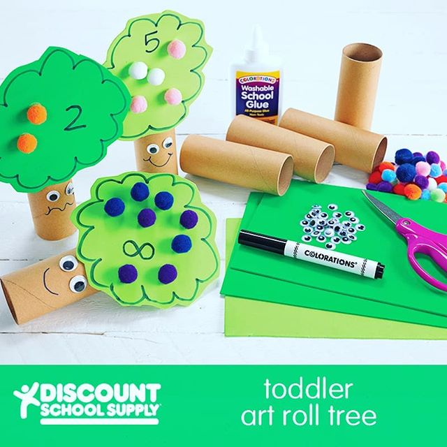 "Earth Day - Toddler Art Roll Tree http://bit.ly/2GTaGus An Activity for Preschoolers: Trees are essential to life on Earth. Celebrate them with this fun craft!  Before You Begin: This simple activity requires just a few materials: recycled craft rolls, green foam sheets and scissors. You may wish to use collage items or markers to add items to your trees, such as birds, apples or flowers.  Activity Goals:  To create a tree celebrating Earth Day and the role of plants on Earth.  Furthermore: You may combine each student's trees to create a whole forest in the classroom.  1) Cut slits about 1-1/2"" long on each side of the paper roll. 2) Draw a tree shape onto the foam sheet. 3) Use scissors to cut the tree shape from the foam sheet. 4) Add collage items or use markers to represent birds, apples, flowers, etc. 5) Stand the paper roll on its end with cut slits upward. 6) Slide the foam tree shape into the slits of the paper roll. 7) Decorate the trunk or leave it plain to complete your tree.  #learningthroughplay #sensoryplay #earlylearning101 #invitationtoplay #learningthroughplay #earlylearning #preschool #toddler #toddleractivities #totschool #toddlerlearning #teachingtoddlers #playmatters #earlyeducation #teachingathome #homeeducation #toddlertime #earlylearning101 #getcreativewith #invitationtocreate #oursensorykids #toddlercrafts  #steamkidschallenge #steam"