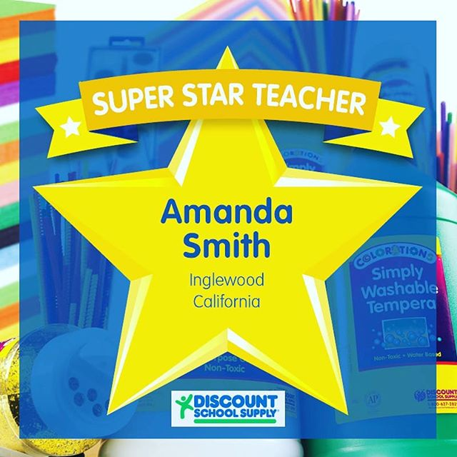 """WINNER! Our 2nd winner for the Super Star Teacher Contest is Amanda Smith from Inglewood, California. She was nominated by Dianna Gutierrez who stated, """" [Amanda] has been working with inner-city students across grades K-12 for the last 11 years.  She went on to get her Admin credential so she can continue making a difference at her charter school, enforcing new standards of excellence for African American students and their families.  She has worked in the community by hosting events on campus to raise awareness for the arts, math, and sciences.  She is an amazing woman!"""" Congrats Amanda! You will be getting your $100 Shopping Spree Gift Cert soon and keep up the great work!  #TAW2018 #teacherappreciationweek #superstar #teachersareawesome #contest #entertowin #learningthroughplay #sensoryplay #earlylearning101 #invitationtoplay #learningthroughplay #earlylearning #preschool #toddler #toddleractivities #totschool #toddlerlearning #teachingtoddlers #playmatters #earlyeducation #teachingathome #homeeducation #toddlertime #earlylearning101 #getcreativewith #invitationtocreate #oursensorykids #toddlercrafts  #steamkidschallenge #steam"""