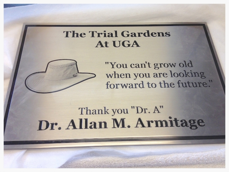 Trial Garden Plaque 2013
