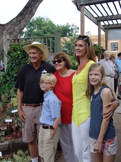 Susan, Laura, and grandchildren at the UGA retirement celebration. July 2013.