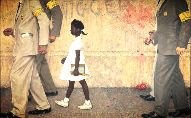 "Norman Rockwell, ""The Problem We All Live With"""