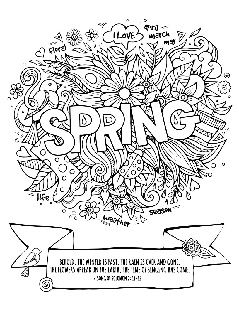 Free Spring Printable from SALT