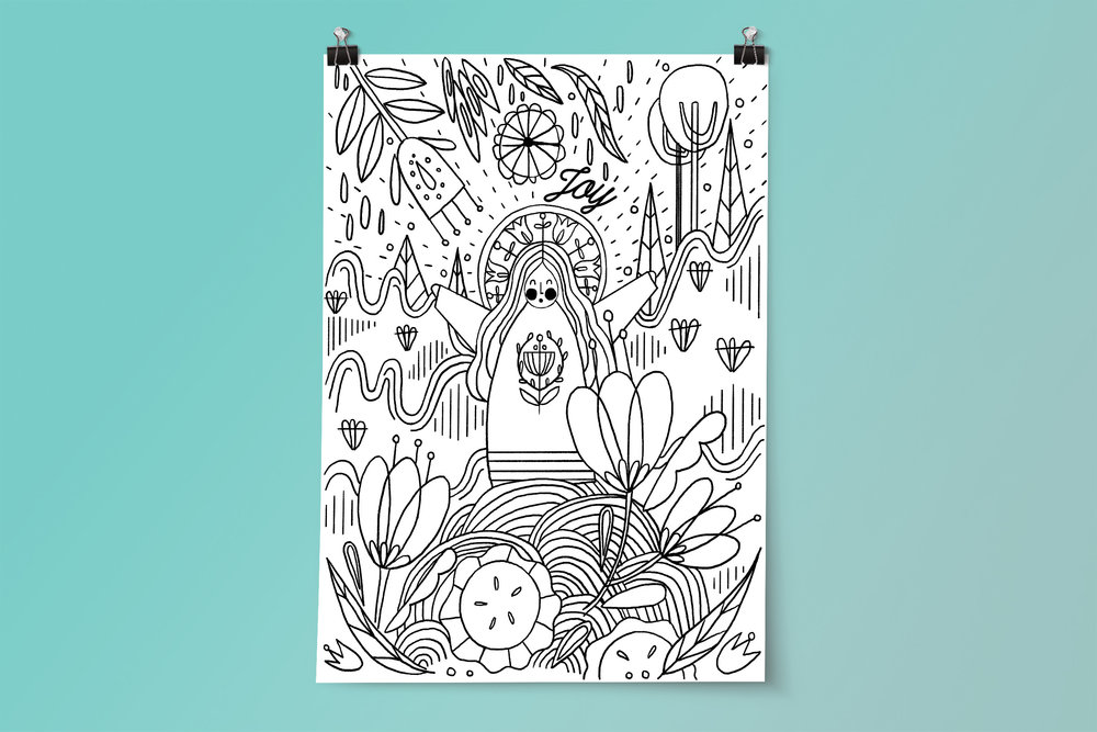 Intergenerational Advent Coloring Poster