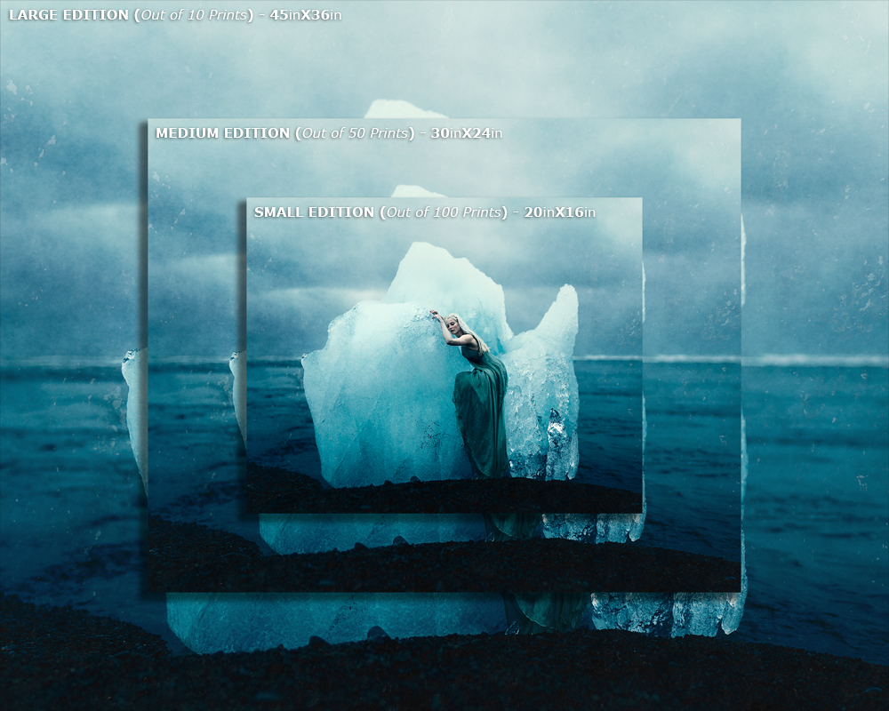 "5X4 RATIO PRINTS Example: "" There She Waits on Her Throne of Ice "" (2015)"