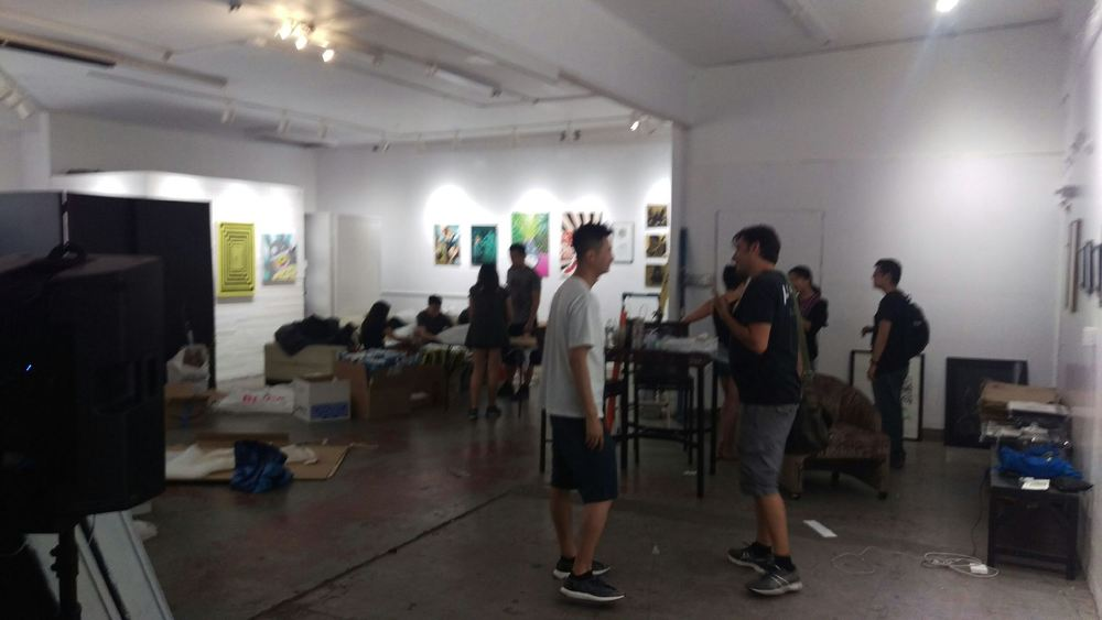 SET UP FOR SHOW @ Mid- City Arthouse