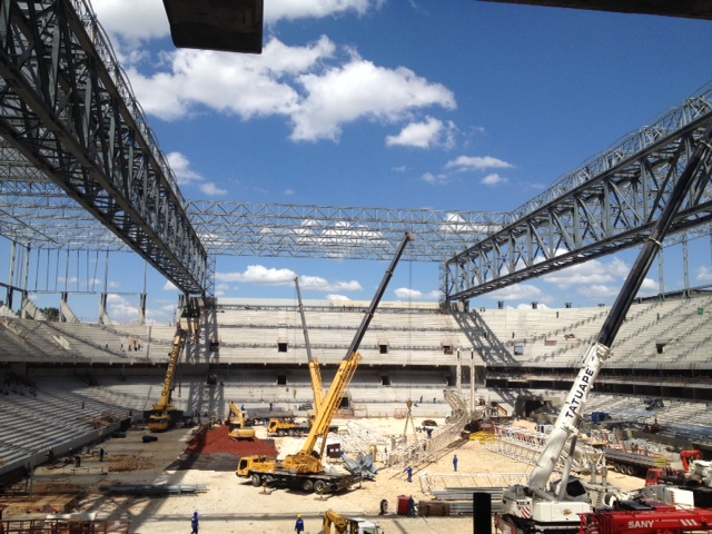 Arena da Baixada in Curitiba, Brazil still under construction. According to stadium officials, it is 85% complete