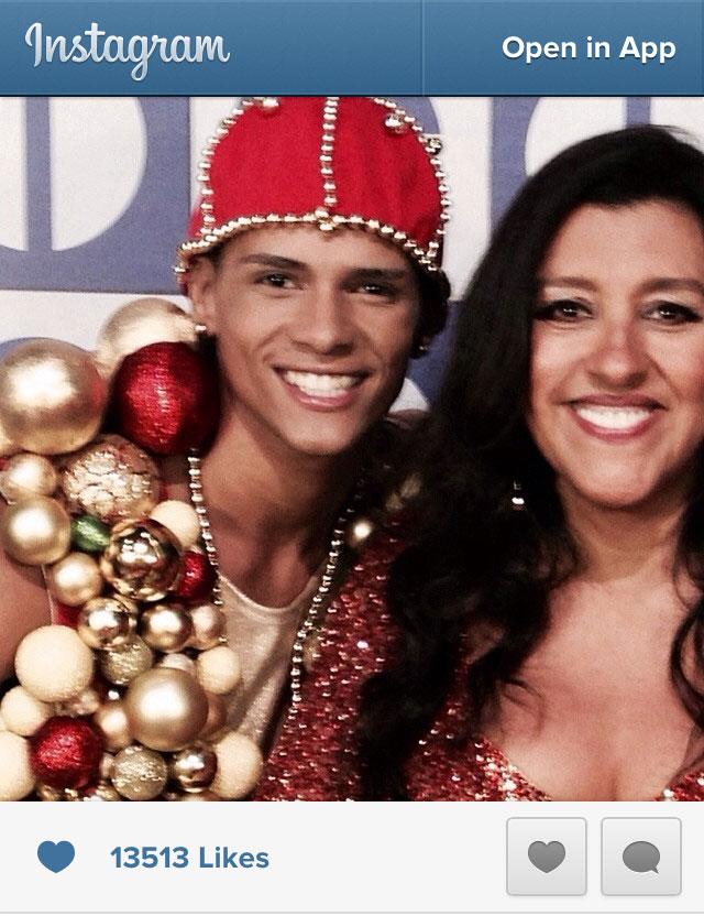 "Photo of DG with ""Esquenta""!host Regina Casé. Source: Regina Casé's instagram"
