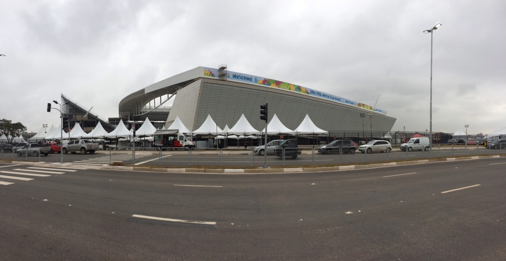 Arena de Corinthians in Sao Paulo a few days before opening match (Source: Flora Charner)