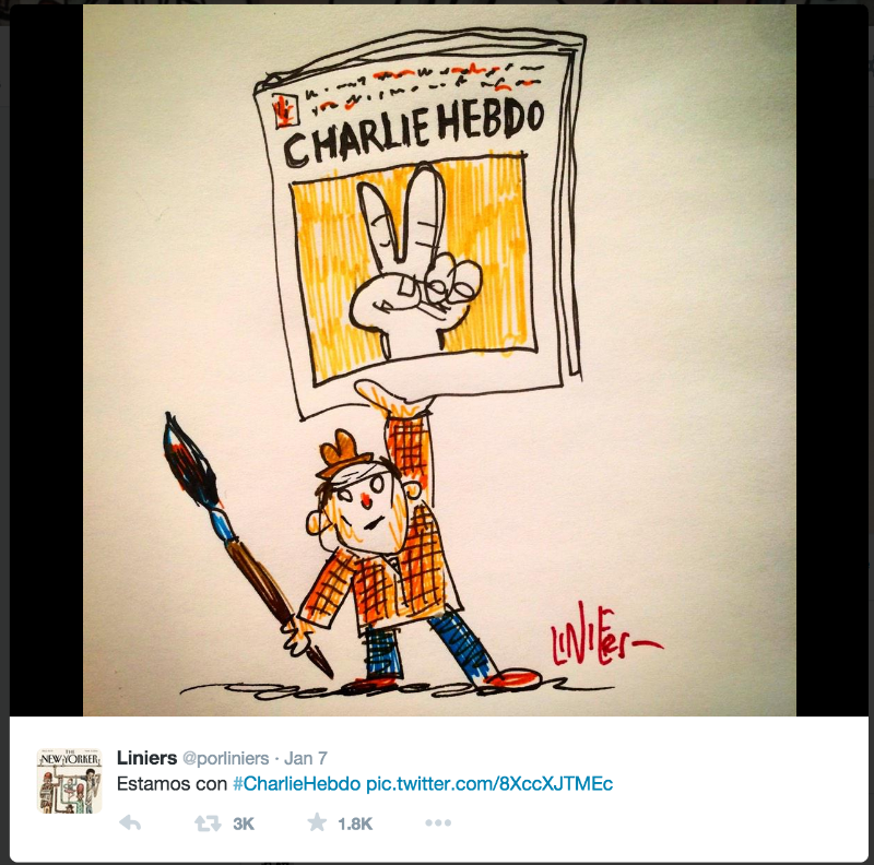 Argentine cartoonist Liniers pays tribute to Charlie Hebdo victims