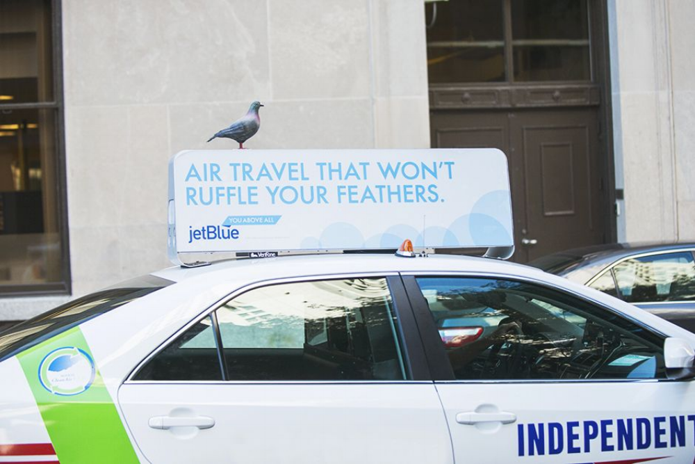 Air on the Side of Humanity / New York and Boston Taxi Tops, 2014.