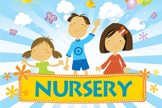 Free Nursery care is provided for all Sunday and Wednesday Services. Ages Newborn-2.