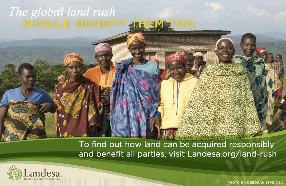 This Landesa ad appeared in The World Bank's program for its Annual Conference on Land and Poverty.