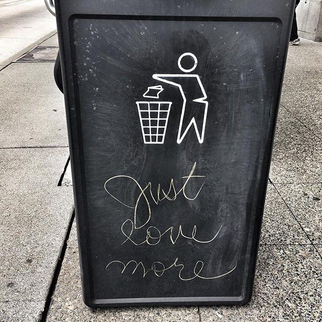 #JustLoveMore #trashcanlove
