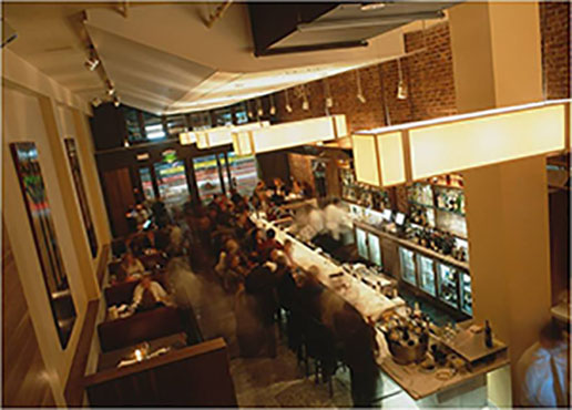 Interior of Perbacco, San Francisco