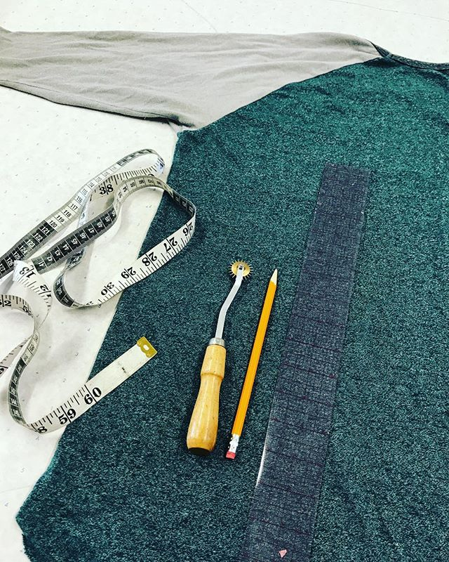 Necessary tools for doing a knock off. Do you have a favorite shirt and would like learn how to knock off a pattern from it?