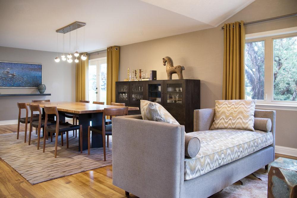 Contemporary Dining Room renovation and interior design - Reno, Nevada - Kovac Design