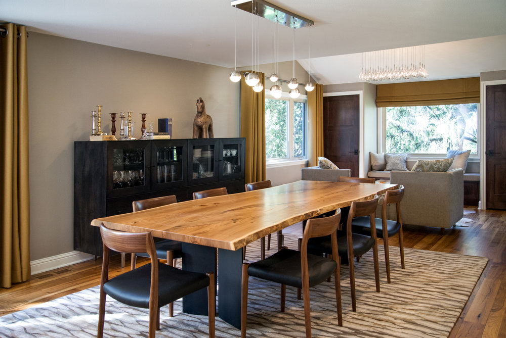 Contemporary Dining Room lighting selection and interior design - Reno, Nevada - Kovac Design