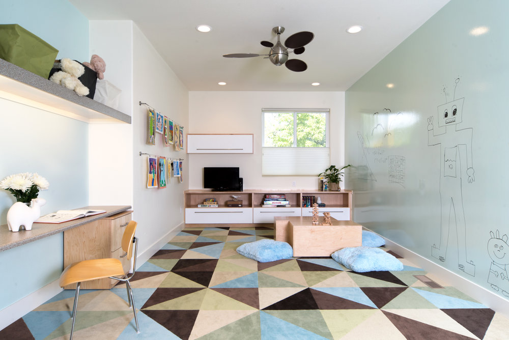 Playroom and bonus room renovation and interior design - Reno, Nevada - Kovac Design
