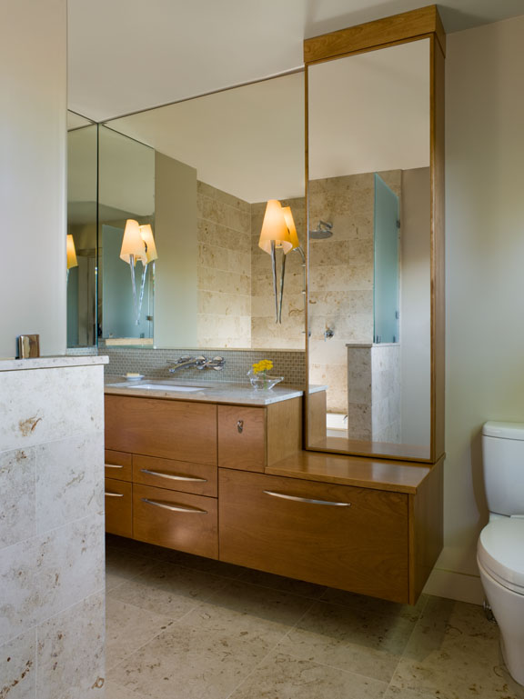 Contemporary mid century modern bathroom renovation - Reno, Nevada