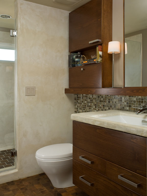 Contemporary mid century modern bathroom renovation - Reno, Nevada - Kovac Design