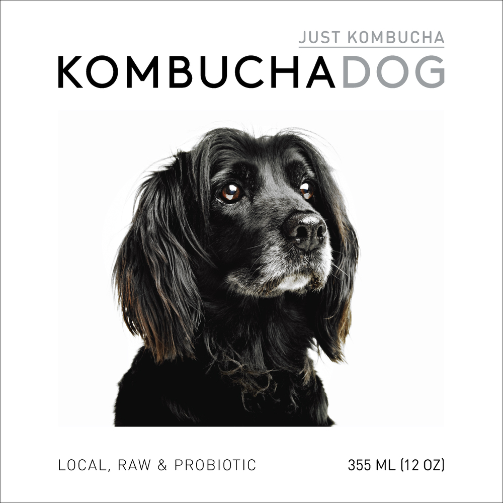 Just Kombucha Kombucha Dog front label