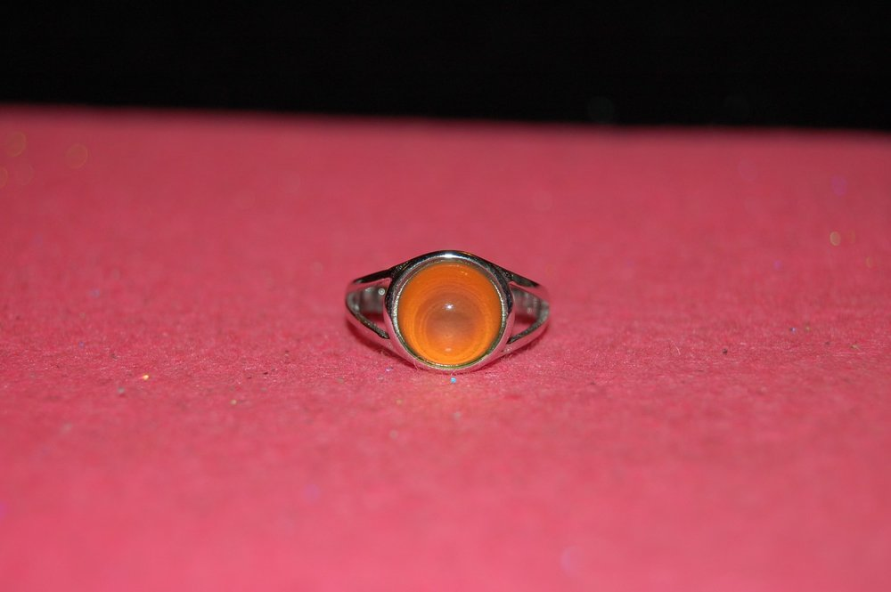 62b830d4ef54 Sugar Coated Creations — Little Miss Fancy Pants Mood Ring--.925 Sterling  Silver--Adjustable--10mm (A4J2)