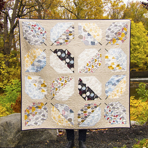 Turning Leaves quilt using Bark & Branch - Photo courtesy of Cloud 9 Fabrics.
