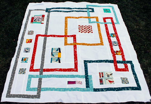 Interlock Quilt Pattern by Kelby Sews; photo courtesy of Sew Mama Sew.