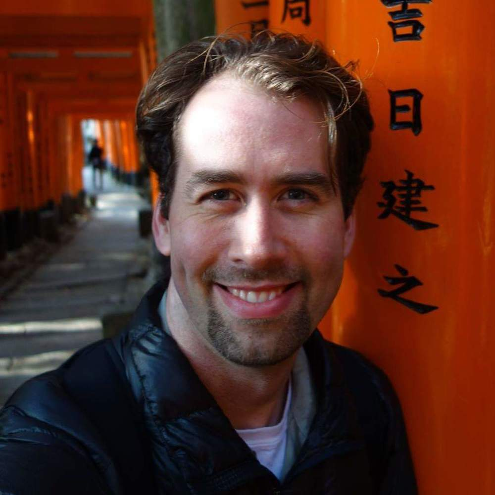 Jesse McQuarters in Kyoto, Japan
