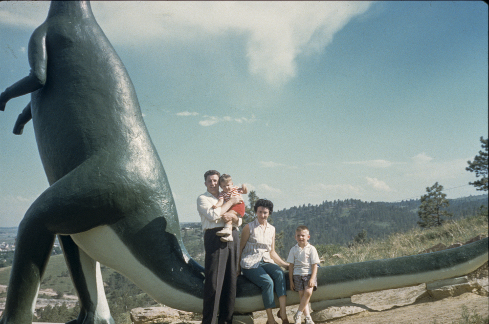 "A ""Legacy Process"" image - one made from film - and my first attempt at  composition. Camera: Argus C3, Film: 35mm Anscochrome, Dinosaur Park, Rapid City, South Dakota around 19...something or other - I was about eight or nine years old."