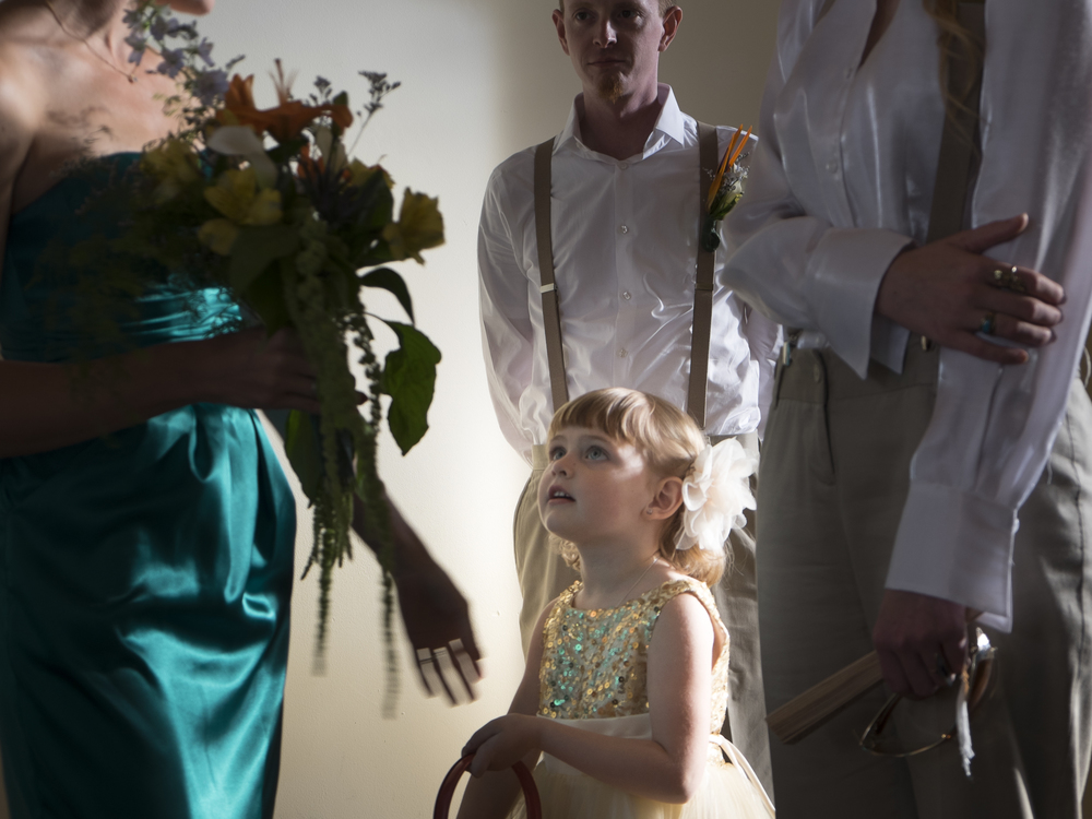 Flower girl at a wedding