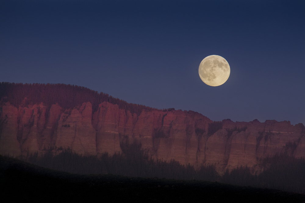 Full moon rises over Ouray, CO, USA Copyright © Kipp Baker, All rights reserved