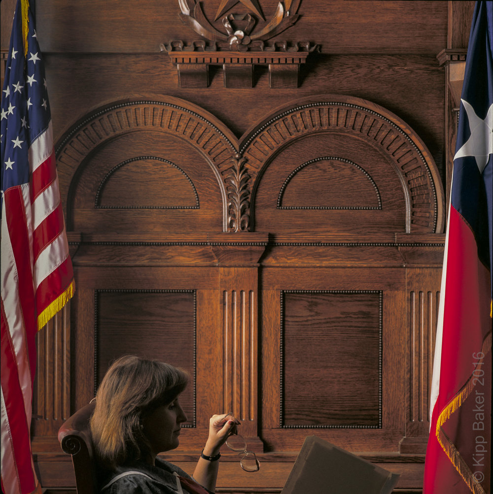 Judge's Bench and backdrop, Ellis County Courthouse, Texas -  Reznikoff Custom Furniture millwork and cabinetry  .